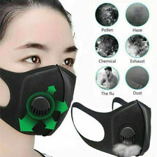 Washable Reusable Air Purifying Face Cover Filter W/ Breathing Valve Dust-proof