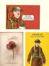 3 War Related Postcards Unused