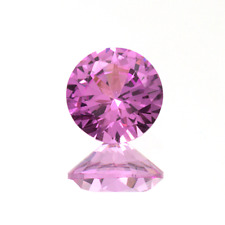 2mm - 15mm Lab Created Pink Sapphire Rounds
