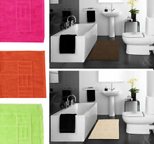 100% Egyptian Cotton Bathroom Mats / Rugs Super Soft Washable Bath Toilet Mat