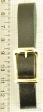 Leather fob replacement strap, black or brown, various sizes & buckles