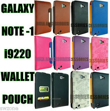 Samsung Galaxy Note i9220 Wallet Pouch Leather Case Cover Flip Back Skin N7000