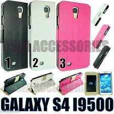 SAMSUNG GALAXY S4 i9500 i9505 LEATHER CASE COVER WALLET POUCH BOOK SLIM SMART