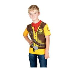 Kid's Shirt Kinder Cowboy Sheriff Western T-Shirt Uniform Größe 92 bis 164