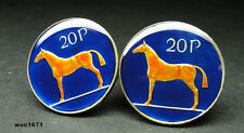 Ireland coin cufflinks  20 pence. Horse - Irish Hunter