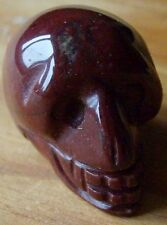 HAND CARVED 1 INCH GEMSTONE GOTHIC SKULL VARIOUS STONES AVAILABLE