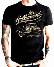 LA MARCA DEL DIABLO [LOS HELLYWOOD CAR CLUB] T-SHIRT KUSTOM KULTURE HOT ROD TATT