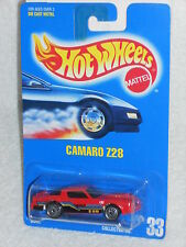 Hot Wheels Mid 90s Blue Card Release #33 Camaro Z28 Red w/ UHs