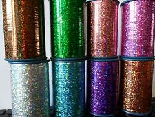 Metallic Lurex Embroidery Yarn  - 7 Holographic Colours - 25M - FREE P&P