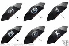 OFFICAL FOOTBALL CLUB - BLACK FOLDABLE UMBRELLA IN POUCH GREAT CHRISTMAS GIFT