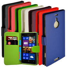Pu Leather Wallet Side Magnetic Flip Phone Case Cover For Nokia Lumia 1520