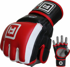 Auth RDX Pelle Gel Tech UFC MMA Punch Bag Grappling Gloves Lotta Boxing OS IT