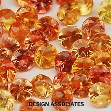 NATURAL FINE MANDARIN ORANGE SPESSARTITE 4 MM ROUND TOP GRADE