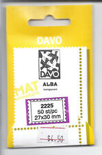 DAVO Alba Transparent/Clear Mounts Lot of 3 Packs - 50 pieces - 22x25mm*
