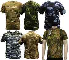 CAMO ARMY MILITARY COMBAT T-SHIRTS TEES S-3XL