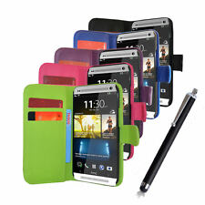 Pu Leather Wallet Flip Case Cover For HTC One 2 M8 2014 Mobile Phone