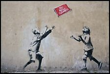 "Reproduction Banksy Art Print ..""BALL GAMES"" ... Various Sizes A1 A2 A3 A4 Sizes"