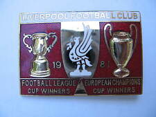 Liverpool Football Club Lapel badge 1981 Mint  pin  Buy save more you save 20%
