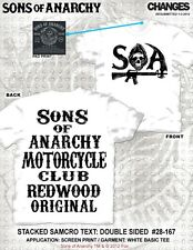 SONS OF ANARCHY SOA STACKED MOTORCYCLE CLUB REDWOOD ORIGINAL T TEE SHIRT S-3XL
