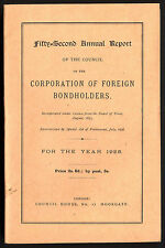 Corporation of Foreign Bondholders annual reports, 1872  to 1988