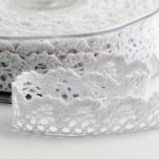 Cotton Lace Ribbon on a reel - various sizes