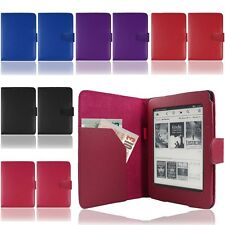 PU LEATHER SMART CASE COVER FLIP WALLET FOR AMAZON KINDLE PAPERWHITE WiFi / 3G