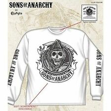 Sons Of Anarchy Soa Redwood Skull Biker Punk White Long Sleeve Shirt Size S-3Xl