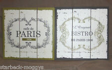 FRENCH SHABBY CHIC SIGN CAFE DE PARIS OR L'ORIGINAL BISTRO DECORATIVE PLAQUE