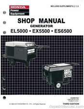 Honda EL5000 ES6500 EX5500 Generator Shop Manual : 61ZA011E3