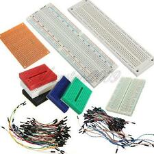 170/400/830 MB102 Tie Points Solderless PCB Breadboard+65/70x Jumper Cable Wires