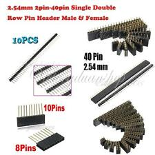 2pin-40pin SIL Straight Short Long Single Double Row Pin Header Male & Female