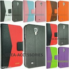 Samsung Galaxy S4 I9500 I9505 Leather Case Wallet Flip Pouch Screen Protector