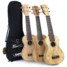 Malani Exotic Series Soprano Ukulele with Aquila Strings + FREE Padded Gig Bag
