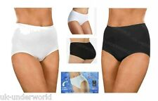 1,2,3 Pairs Ladies Tummy Slimming Pants Light Control Maxi Briefs Sizes 12-20