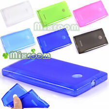 CUSTODIA COVER MORBIDA IN SILICONE TPU GEL PER NOKIA LUMIA 435 N435 + PELLICOLA