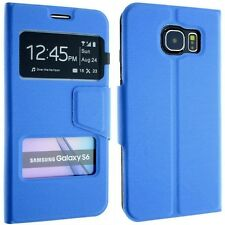 FOR SAMSUNG GALAXY S6 GM-920 SM-G920F LEATHER CASE COVER FLIP POUCH WINDOW