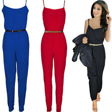 Sexy Damen Jumpsuit Overall Haremshose Sommeroverall 34/36/38/40/42 *NEU* BC113