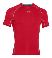 UNDER ARMOUR HEATGEAR COMPRESSION SHORT SLEEVE SHIRT RED STEEL 1257468-600