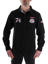 Mod Camisa de manga larga Ms171 Negro Cuello KENT PARCHES BORDADO