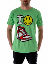 Local Celebrity T-shirt T-shirt vert Happy Chaussures Col rond manches courtes