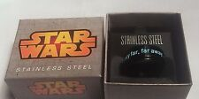STAR WARS LONG TIME AGO SPINNER STAINLESS STEEL INTRO VADER LUKE RING 8-12
