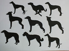 9 DOG SILHOUETTE DIE CUTS GREYHOUNDS, ITALIAN, LURCHER, WHIPPETS SIGHT HOUNDS