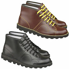 Mens Boys Gents Fashion Everday Casual Smart  Monkey Boot Black/ Brown 3-12