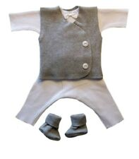 Gallant Baby Boy 4 Piece Suit with Gray Vest - 4 Preemie and Newborn Sizes