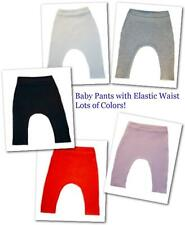 Solid Color Unisex Baby Pants 17 Colors - 5 Sizes Preemie to Newborn to 6 month