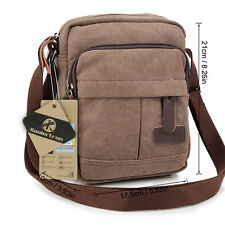 Men's Women's Retro Small Canvas Cross Body Shoulder Messenger Satchel Bag