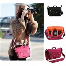Girls Nylon Waterproof DSLR Camera Shoulder Messenger Carry Bag For Canon&Nikon