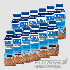 (4,98/l) Multipower Fit Protein Lite Shake 12x 500ml Flasche Eiweiss Drink