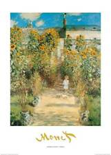 Claude Monet The Monet's garden at Vètheuil Grösse 50x70 cm Kunstdruck Artprint