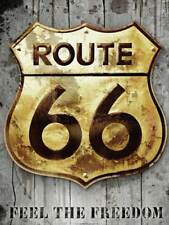 Route 66 - Golden Sign Kunstdruck, Art Print